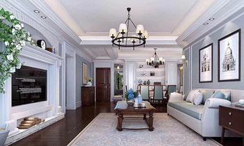 常熟装修客厅效果图-家居室内装饰效果图